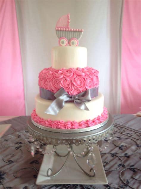 girl baby shower cake fondant ideas pinterest