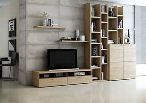 Bücherwand Mit Tv : wohnwand b cherwand lack eiche natur tv fach ~ Michelbontemps.com Haus und Dekorationen