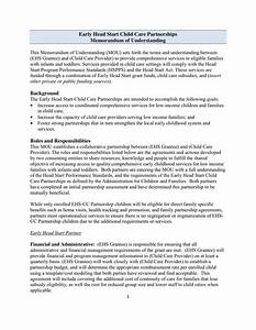 image gallery sample mou With free sample memorandum of understanding template