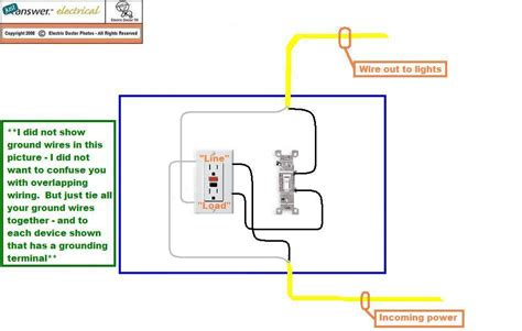 hooking up a light switch when hooking up a light switch to a gfci like shown online