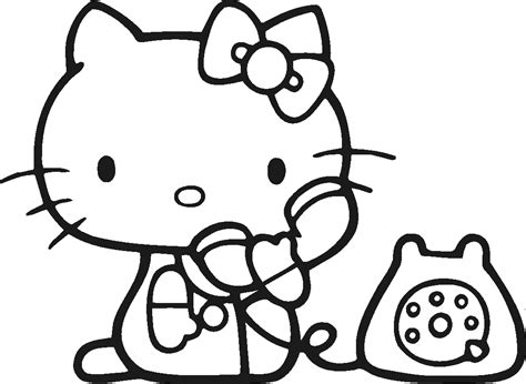 Hello Kitty Printable Coloring Pages For Kids