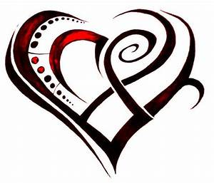 20 Beautiful Tribal Heart Tattoos | Only Tribal