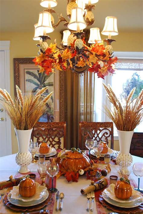 how to decorate a table for fall beautiful wheat centerpiece with pumpkin tureens