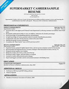 Resume Example Food Service Supermarket Cashier Resume Samples Across All Industries
