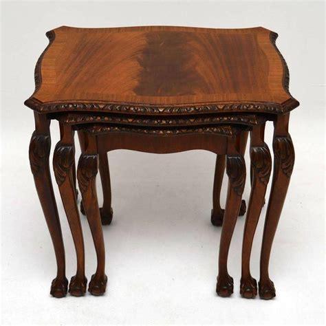 mahogany nesting tables antique style mahogany nest of tables at 1stdibs 3968