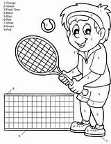 Coloring Pages Tennis Summer Racket Printable Player Getdrawings Getcolorings Imom Mom Colorings sketch template