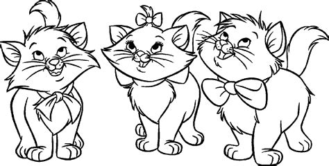 Cats And Kittens Coloring Pages Free And