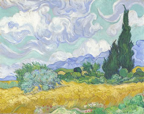 Vincent Van Gogh  A Wheatfield With Cypresses  Theruine