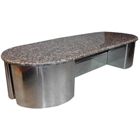 1970 s breuton granite slab coffee table at 1stdibs