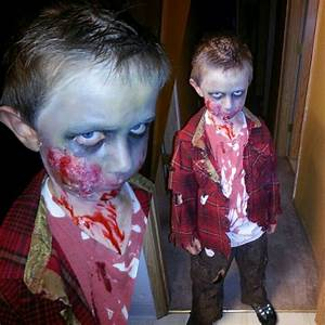 Zombie Makeup/Kid's zombie costume I did on my son ...