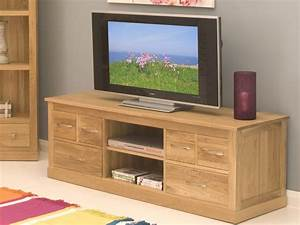 Conran Solid Oak Living Room Furniture Widescreen TV DVD