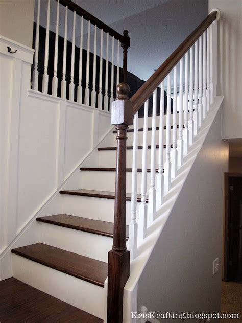 Images Of Banisters by Update A Banister Board Batten Kitchen Island Easy