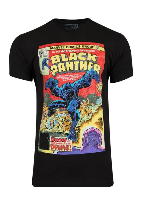 mens black panther comic tee