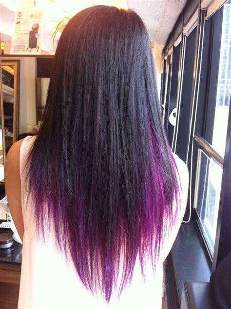 Black Hair With Brown Tips by Purple Underneath Hair Search Hair Purple