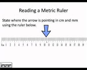 How to Read mm On a Metric Ruler