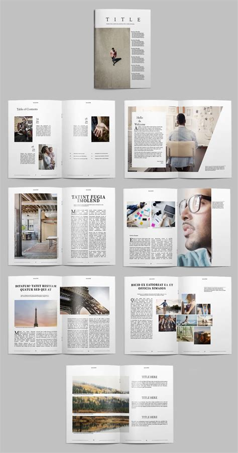 Magazine Format Template by Minimalist Magazine Layout Buy This Stock Template And
