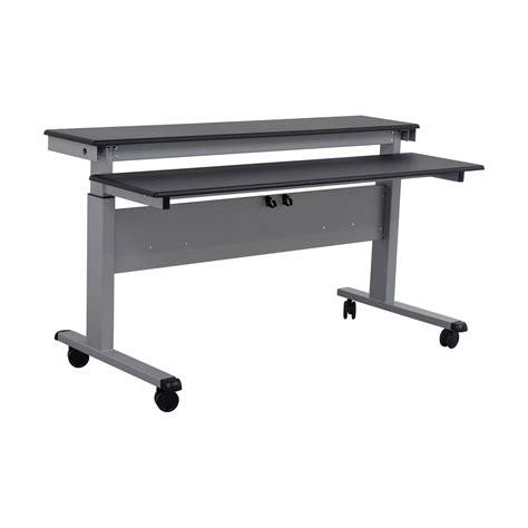adjustable height stand up desk 83 off rakuten rakuten crank adjustable height sit to