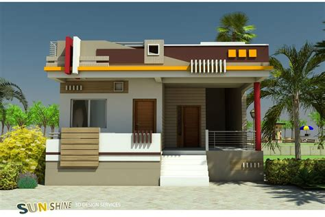 single floor design ajay   house elevation