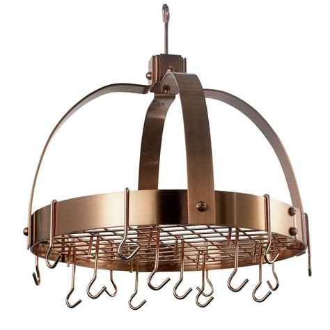 Copper Pot Rack With Lights by 20 In X 15 25 In X 21 In Dome Satin