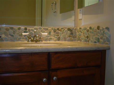 Pebble Stone Backsplash : 25 Interesting Pictures Of Pebble Tile Ideas For Bathroom