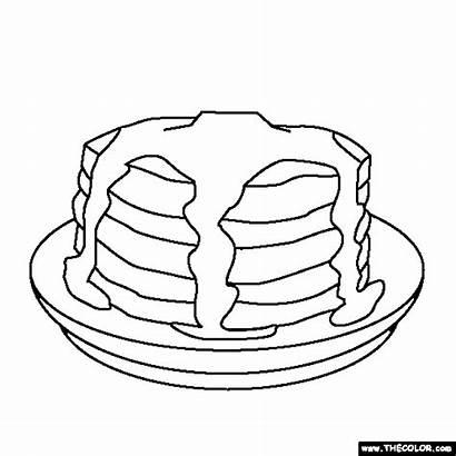 Coloring Pancake Pancakes Give Pig Treats Sweet