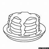 Pancake Pancakes Coloring Pages Pig Stack Give Drawing Template Sweet Treats Clipart Sketch Comments Getdrawings Library sketch template
