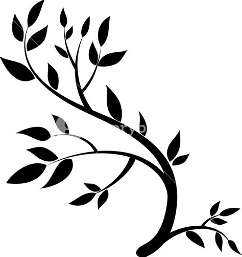 design element graphic drawing   brunch  leaves
