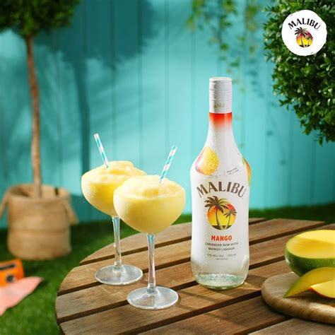 These malibu rum drinks taste just like the beach and are perfect for sipping when it gets warm. Malibu Mango Frozen Daiquiri | Frozen drinks alcohol, Rum ...