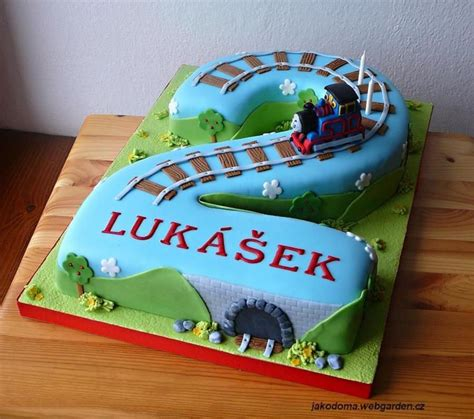 number  cake  cake central thomas  train cake