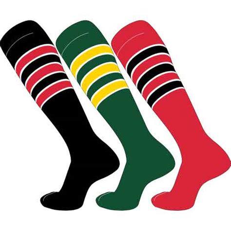 tck  stripe outline baseball football socks