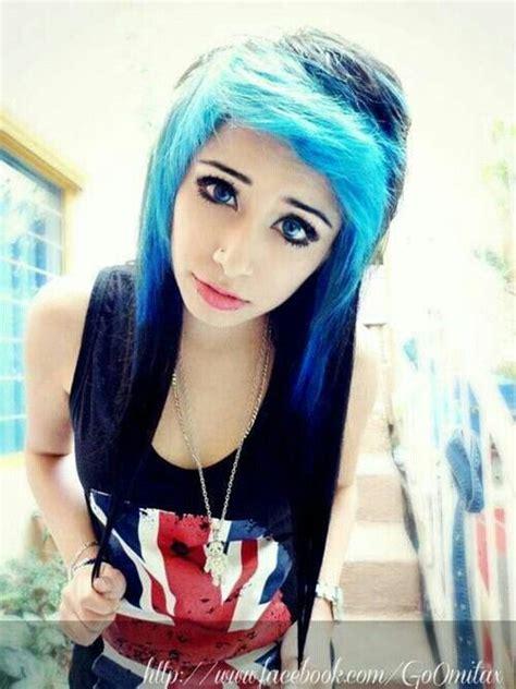 Gomita Monstro Emo Girl Black And Blue Hair Blue Eyes