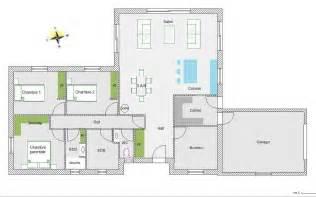 maison 5 chambres plan de maison plain pied gratuit 5 chambres ventana