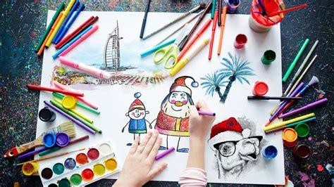 sign  kids    santa  dubai drawing contest