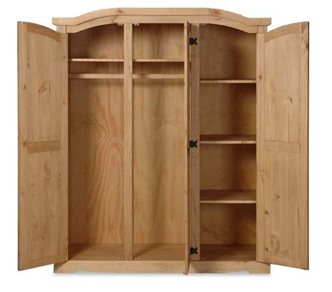 Solid Pine Wardrobe by Mexican Solid Pine Furniture Large Wardrobe Ebay