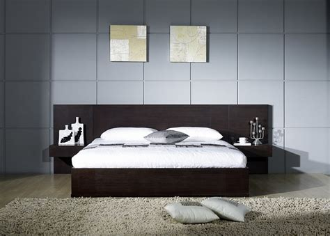 Nightstands For Platform Beds by Emblem Modern Platform Bed With Nightstands Contemporary