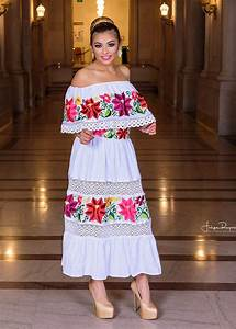 gloria vidal authentic embroidery from mexico With mexican wedding dress for sale