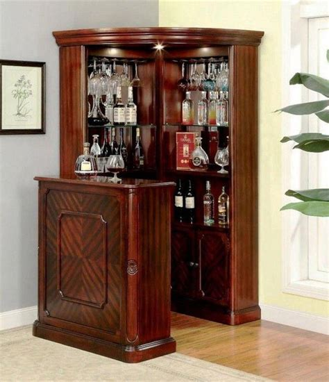 You can keep things simple with some surface space and perhaps a shelf or drawer. 45+ Amazing Corner Bar Cabinet Ideas for Coffee and Wine Places #decoratingideas # ...