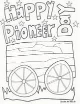 Pioneer Coloring Pages Happy Printables Utah Doodles Religious Pioneers Mormon sketch template