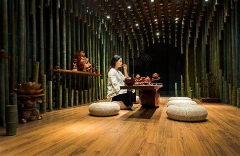tea room  minax creates optical effects  lotus bamboo