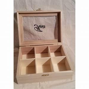 Boite à Thé Bois : boite th bois 6 cases ~ Teatrodelosmanantiales.com Idées de Décoration
