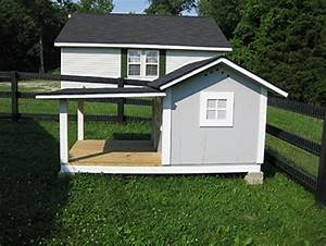 custom doghouse with kentucky style fence gathering wood With large custom dog houses