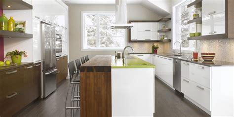 cuisines en bois fraichement moderne cuisine thermoplastique bois quartz