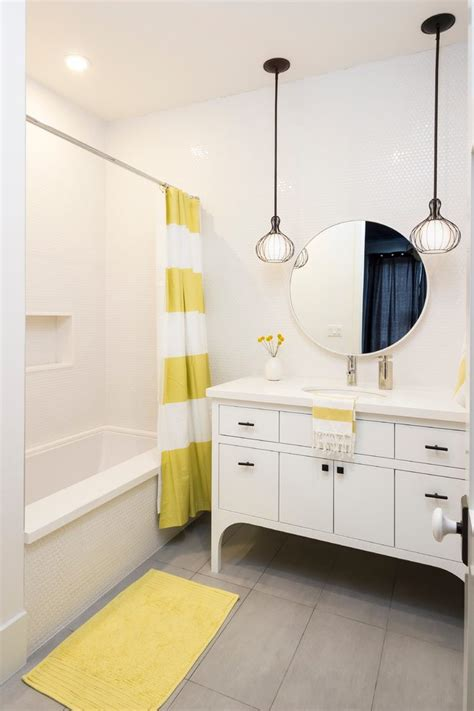 Bathroom Fixtures Los Angeles by Los Angeles Yellow And White Bathroom Transitional With