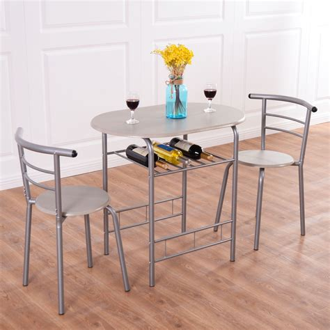 pcs bistro dining set small kitchen indoor outdoor table