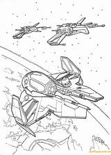 Wars Star Pages Spaceships Coloring sketch template