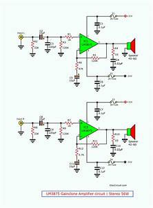 Lm3875 Gainclone Amplifier Circuit