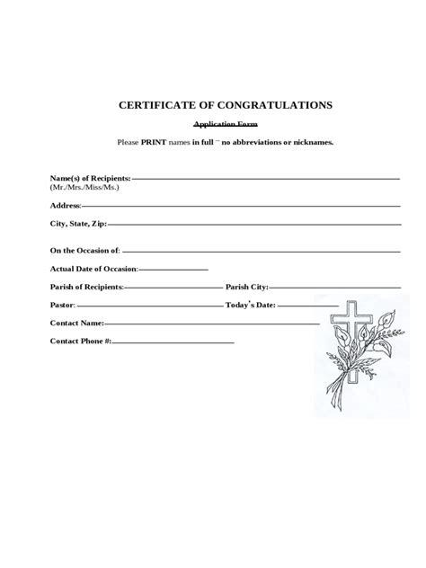 congradulations certificate