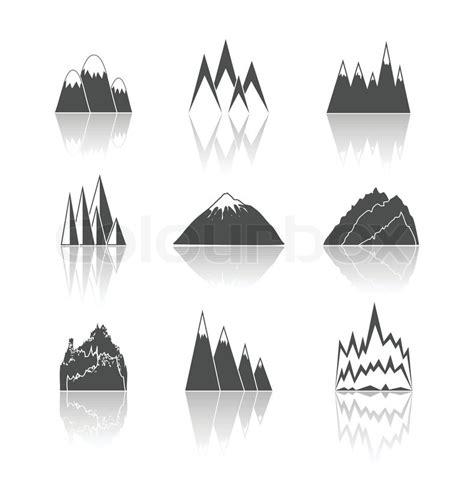 berge piktogramme symbole satz vektorgrafik colourbox