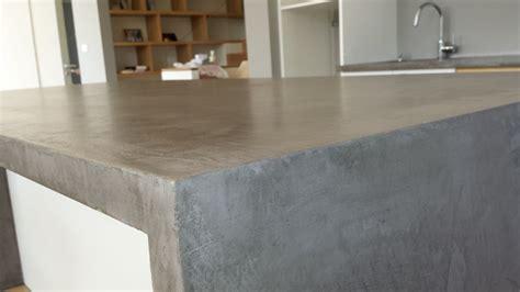 beton ciré cuisine plan travail entretenir un plan de travail en béton