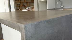 entretenir un plan de travail en beton With plan de travail exterieur en beton